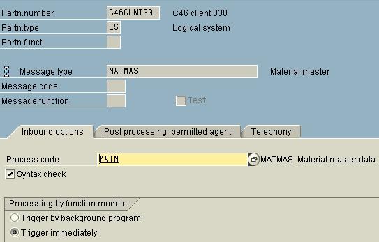 Master dcata distribution using IDOCs